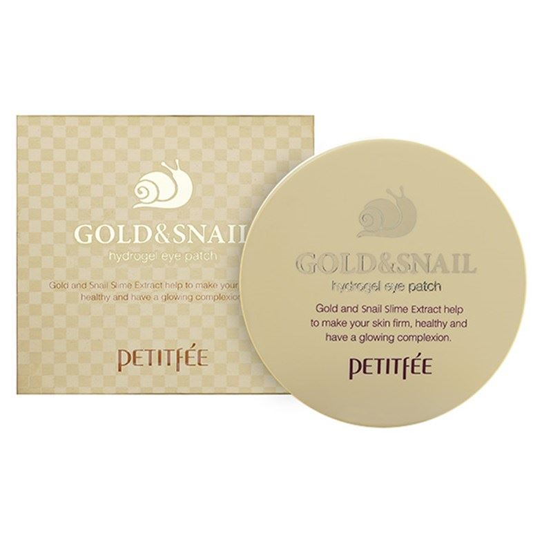 Маска Petitfee Gold & Snail Eye Patch (60*1.4 г) патчи для глаз petitfee collagen
