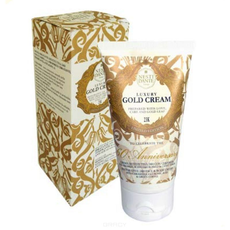 Крем Nesti Dante Luxory Gold Creme Luxury Gold Soap 60 Anniversary 150 мл wella крем inspire pure creme 60 мл серебряный крем inspire pure creme 60 мл серебряный 60 мл