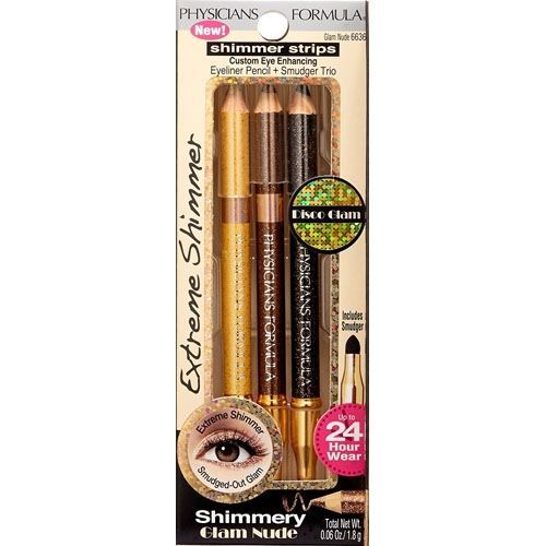 Карандаши Physicians Formula Shimmer Strips Pencil+Smudger Trio Nude Eyes (Glam Nude Eyes) румяна physicians formula nude wear glowing nude blush розовый