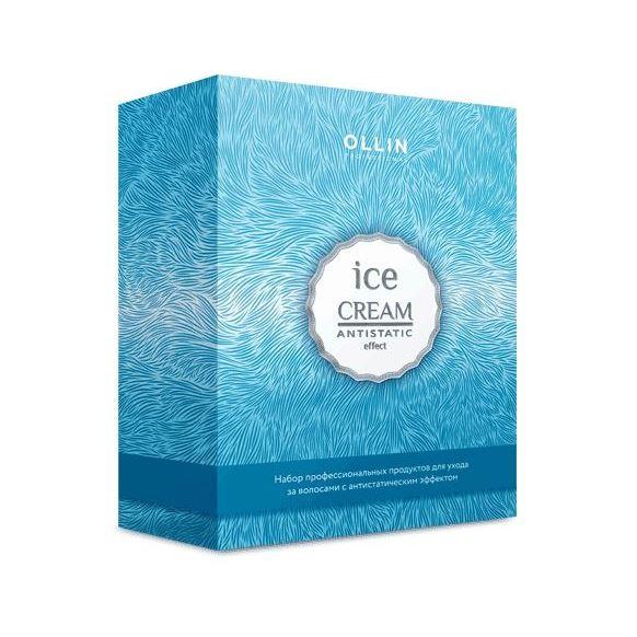 Набор Ollin Professional Ice Cream Set (Набор: шампунь, 250 мл + кондиционер, 250 мл + спрей-кондиционер, 250 мл) ollin professional кондиционер спрей питательный spray conditioner ice cream 250мл