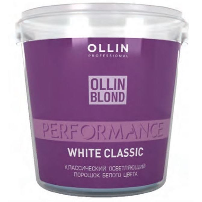 Краска для волос Ollin Professional Ollin Blond Performance White Classic Powder (30 г) ollin professional перманентная крем краска для волос performance 7 77 русый интенсивно коричневый 60 мл
