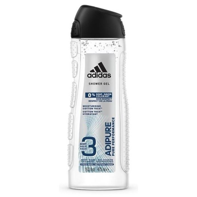 Гель Adidas Shower Gel Adipure Pure Performance 3 in 1  adidas performance tf bra print 1