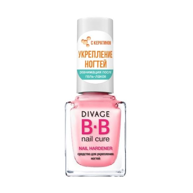 Лак Divage BB Nail Cure Nail Hardener 12 мл концентрат divage bb nail cure nail polish gel remuver 120 мл