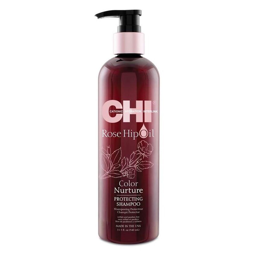 Шампунь CHI Rose Hip Oil Color Nurture Protecting Shampoo шампунь chi pure hydration shampoo