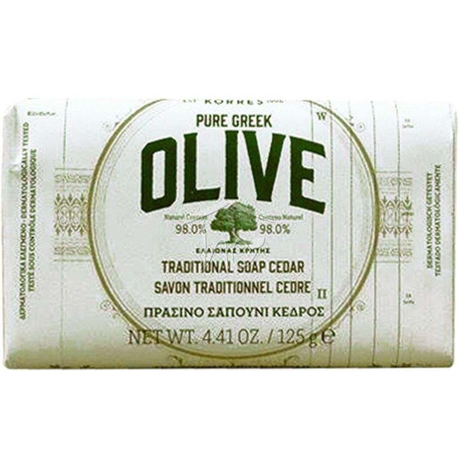 Мыло Korres Pure Greek Olive Traditional Soap (Olive Blossom) korres pure greek olive гель для душа в ассортименте бергамот