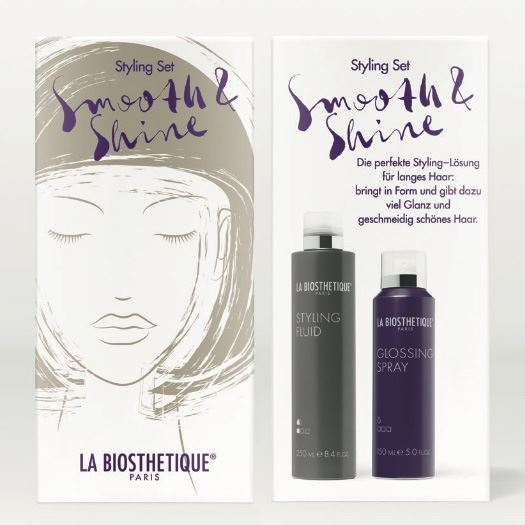 Набор La Biosthetique Набор для стайлинга Smooth & Shine (Набор: флюид, 250 мл + спрей, 150 мл) спрей la biosthetique heat protector 100 мл
