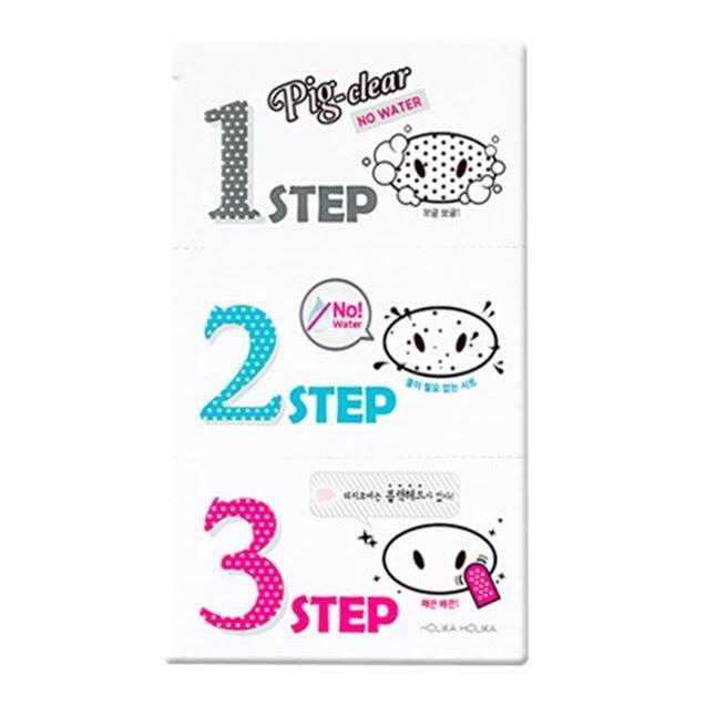 Набор Holika Holika Pig Clear Blackhead 3-Step Kit No Water (Набор, 20 г) ночная маска для лица pig collagen jelly pack 80 г holika holika