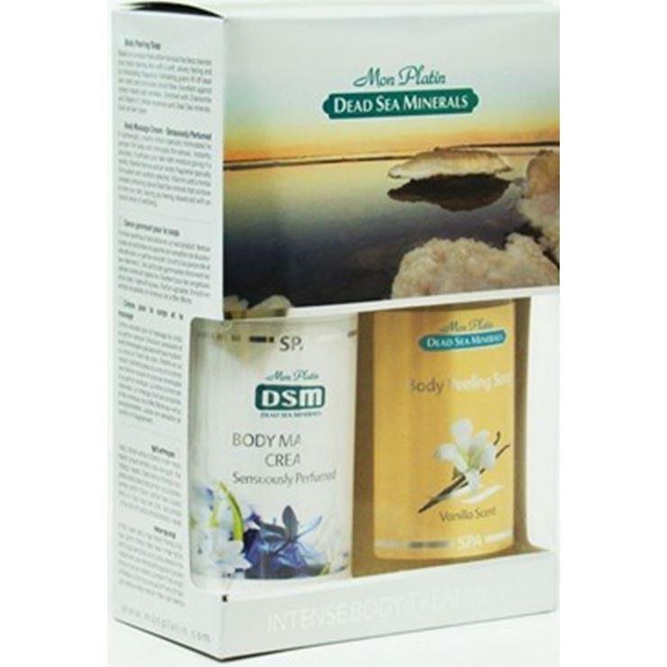Набор Mon Platin Набор для тела Ваниль  (Набор: мыло-пилинг, 400 мл + крем, 400 мл) набор крем kora набор spa лифтинг уход набор