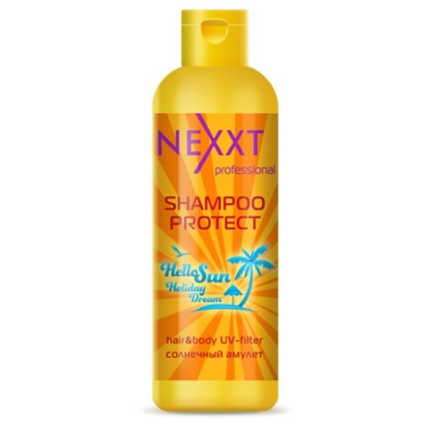 Шампунь Nexxt Professional Shampoo Protect Hair & Body UV-Filter 250 мл флюид nexxt professional hair skin color remover 125 мл