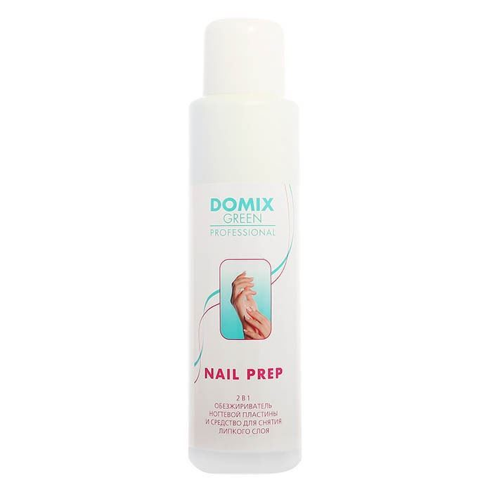 Жидкость Domix Green Professional Nail Prep 2 in 1 500 мл масло domix green professional avocado nail oil 17 мл