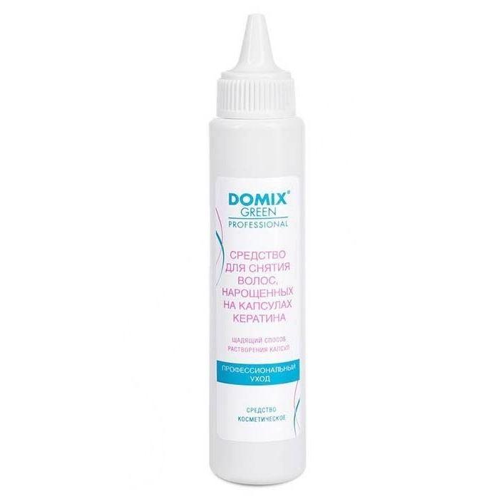 Жидкость Domix Green Professional Средство для снятия волос, нарощенных на капсулах кератина 70 мл жидкость domix green professional universal neutralizer 150 мл