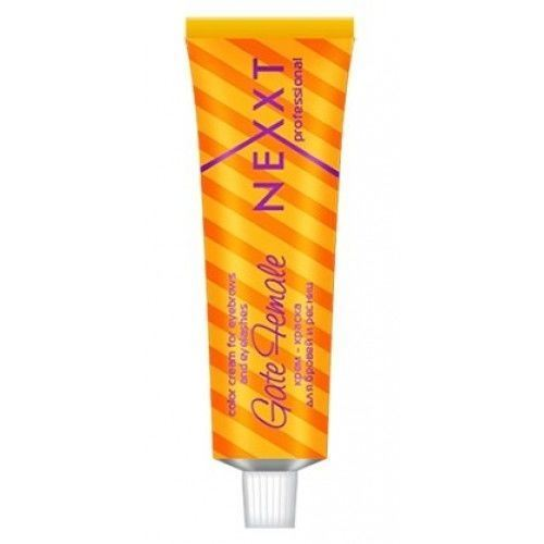 Краска для волос Nexxt Professional Color Cream For Eyerows And Eyelashes Gate Female (черная) флюид nexxt professional hair skin color remover 125 мл