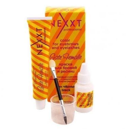 Краска для волос Nexxt Professional Color Cream For Eyebrows and Eyelashes Gate Female Set (черная)