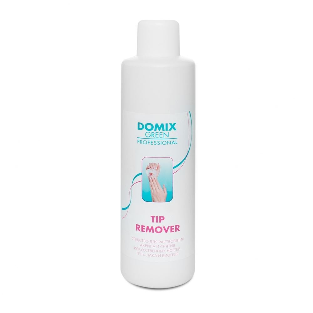 Жидкость Domix Green Professional Tip Remover 500 мл жидкость domix green professional cuticle remover almond oil 75 мл