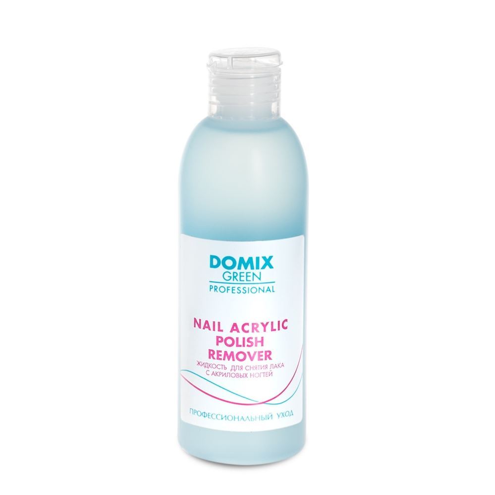 Жидкость Domix Green Professional Nail Acrylic Polish Remuver 200 мл жидкость divage nail polish remover green tea зеленый чай