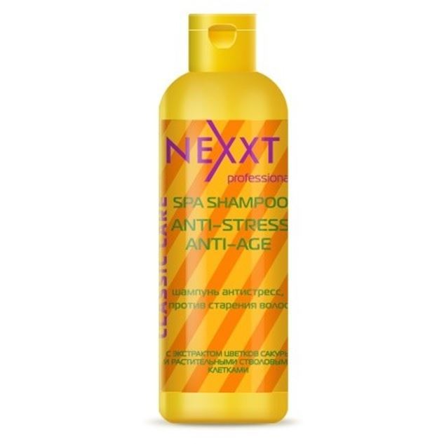Шампунь Nexxt Professional Spa Shampoo Anti-Stress Anti-Age 1000 мл шампунь nouvelle hi fill anti age preliminary shampoo
