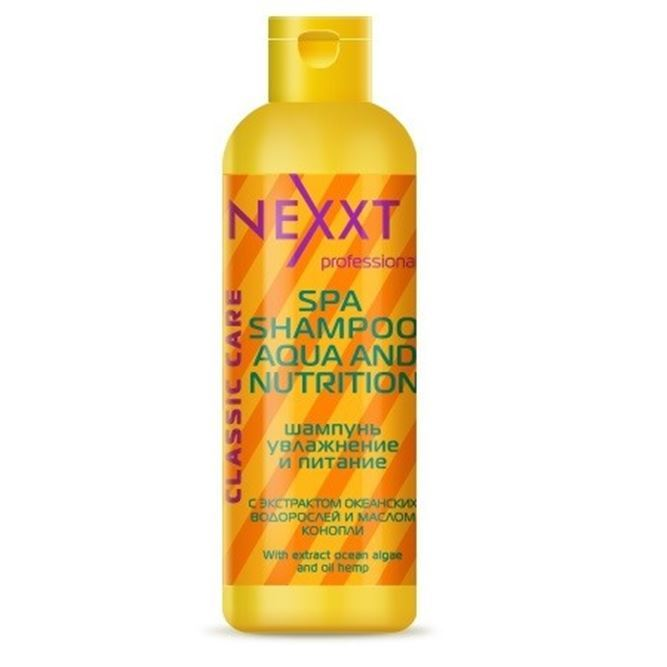 Шампунь Nexxt Professional Spa Shampoo Aqua Аnd Nutrition 250 мл sea of spa крем морковный универсальный 500 мл
