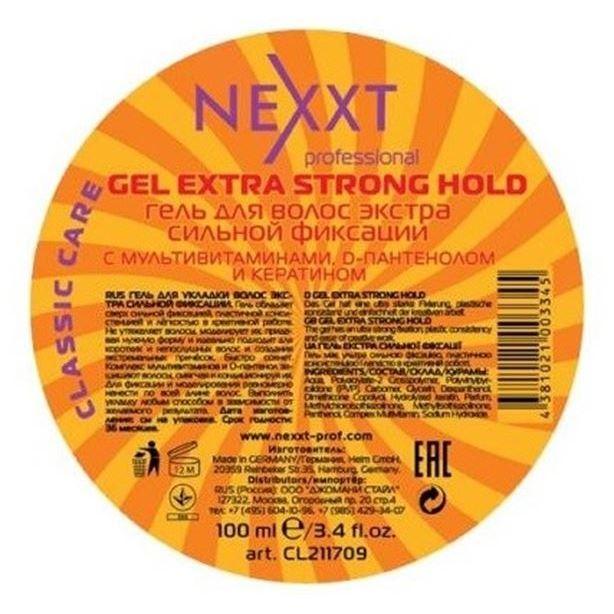 Гель Nexxt Professional Gel Extra Strong Hold 100 мл гель londa professional texture swap it shaper gel extra strong 100 мл