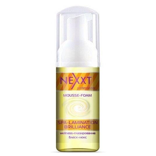 Мусс Nexxt Professional Mousse-Foam Spa-Lamination Brilliance 150 мл kapous studio professional крем краска для волос экстрактом женьшеня и рисовыми протеинами 7 8 карамель 100 мл