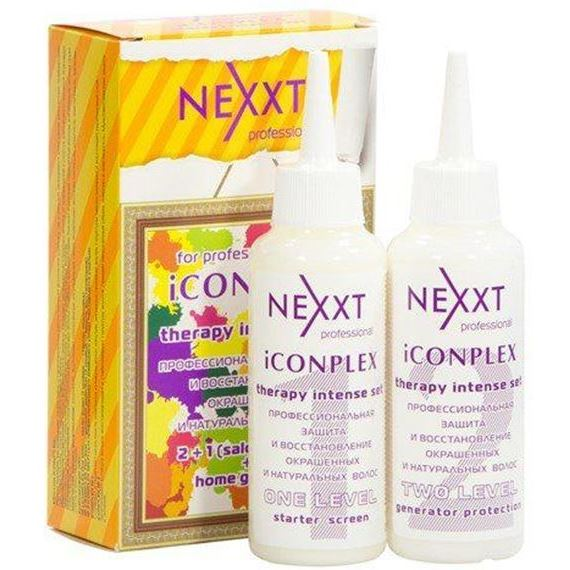 Набор Nexxt Professional For Professional Use iCOMPLEX Therapy Intense Set (Набор: 1 уровень, 125 мл + 2 уровень, 125 мл) флюид nexxt professional hair skin color remover 125 мл
