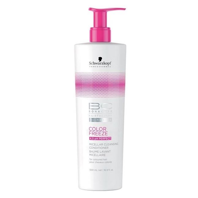 Кондиционер Schwarzkopf Professional Color Freeze. Micellar Cleansing Conditioner 500 мл schwarzkopf лак для волос сильной фиксации schwarzkopf osis freeze 1918571 500 мл