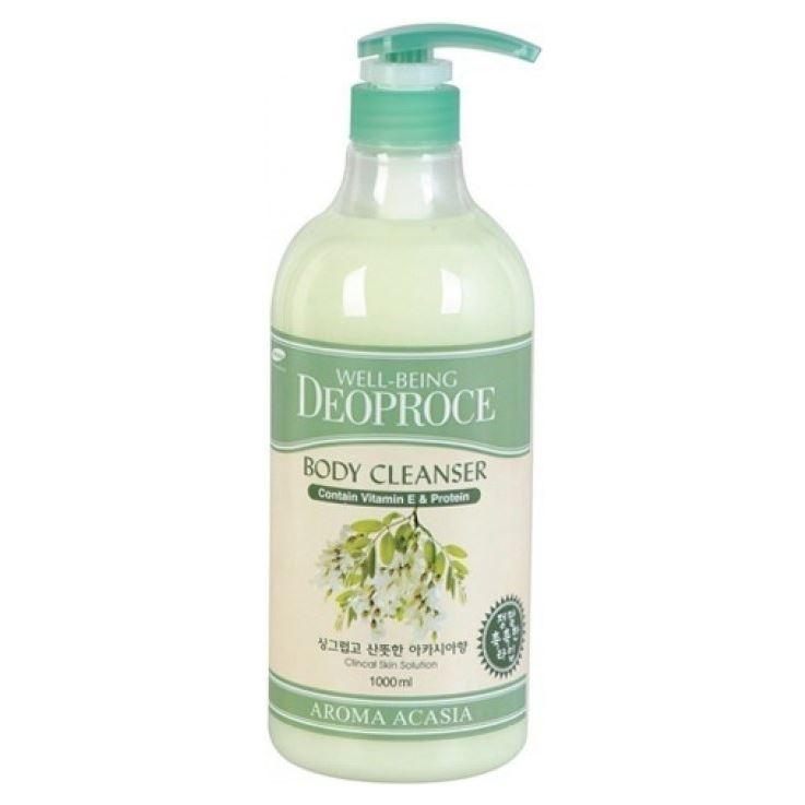 Гель для душа Deoproce Well-Being Aroma Body Cleanser Acasia 1000 мл лосьон deoproce well being body face advanced moisture lotion
