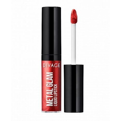 Помада Divage Metal Glam Liquid Lipstick (02) maybelline brow drama светло коричневая