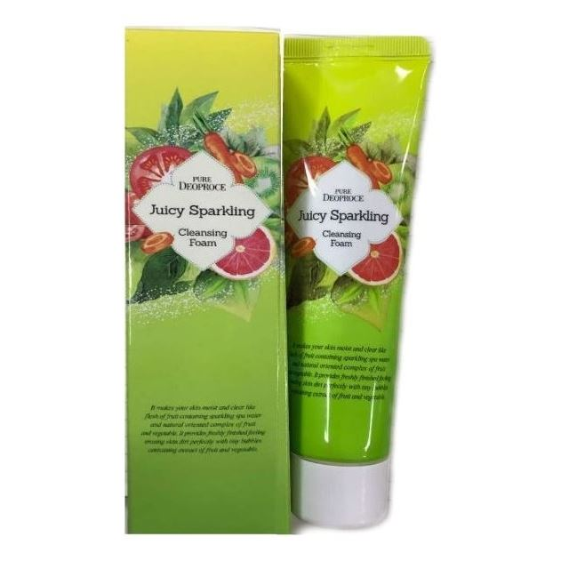 Пенка Deoproce Pure Juicy Sparkling Cleansing Foam the body shop the bodyshop