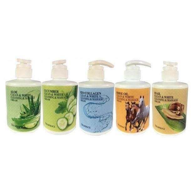 Крем Deoproce White Cleansing & Massage Cream (Snail ) расслабляющий массажный крем unstress relaxing massage cream 500 мл christina