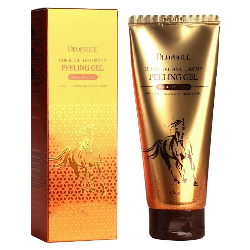 Гель Deoproce Horse Oil Hyalurone Peeling Gel 170 мл the yeon lotus roots 365 silky skin bubble peeling gel пилинг гель с экстрактом лотоса 100 мл