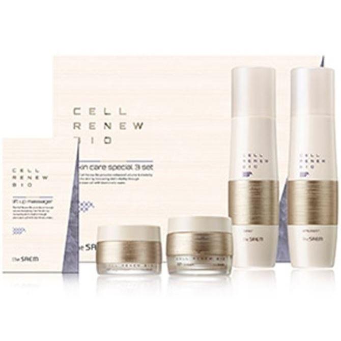 Набор The Saem Cell Renew Bio Skin Care Special 3 Set (Набор: тонер, 150 мл + эмульсия, 150 мл + крем д/лица, 60 мл + крем д/век, 30 мл ) renew отбеливающая сыворотка renew whitening protective depigmenting cream 1204030 30 мл
