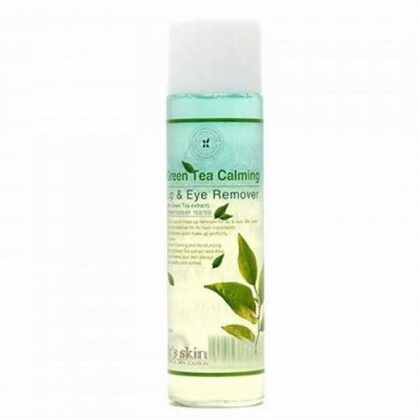 Жидкость It s Skin Green Tea Calming Lip & Eye Cleansing Remover снятие макияжа the face shop phyto powder in lip and eye makeup remover green tea объем 100 мл