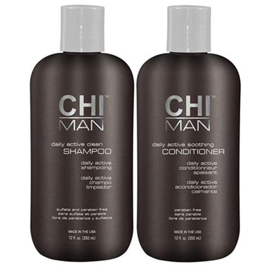 Набор CHI Man Daily Active Duo (Набор: шампунь, 350 мл + кондиционер, 350 мл) ahava набор duo deadsea mud набор дуэт
