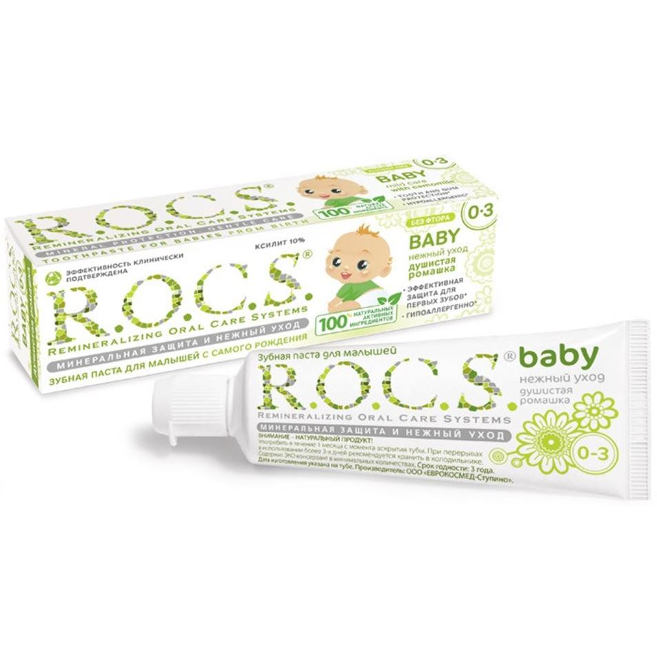 Фото Зубная паста R.O.C.S. Baby Mild Care With Camomile (45 г)