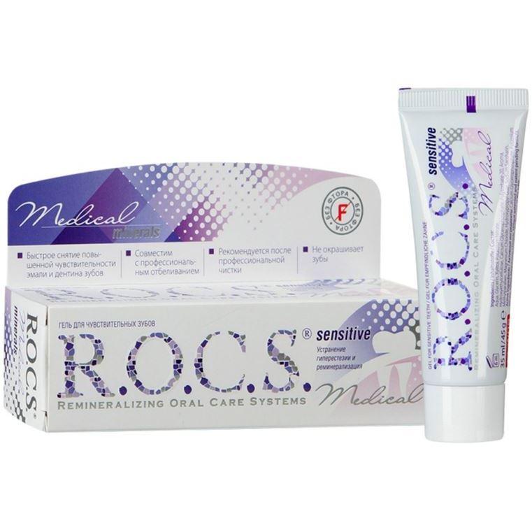 Гель R.O.C.S. Medical Minerals Sensitive (45 г) jason гель обезболивающий cooling minerals