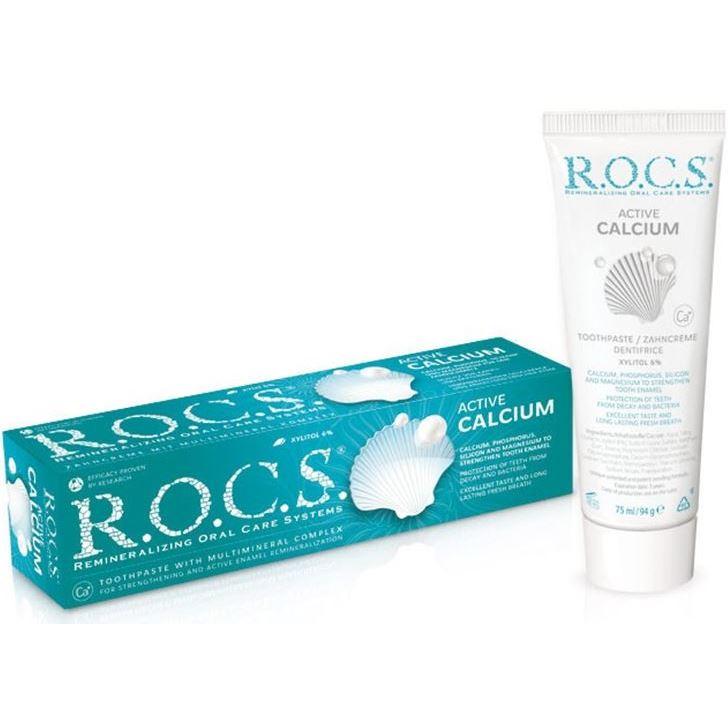 Зубная паста R.O.C.S. Active Calcium (94 г) друэ в вьель п л паста а еще лазанья равиоли и каннеллони