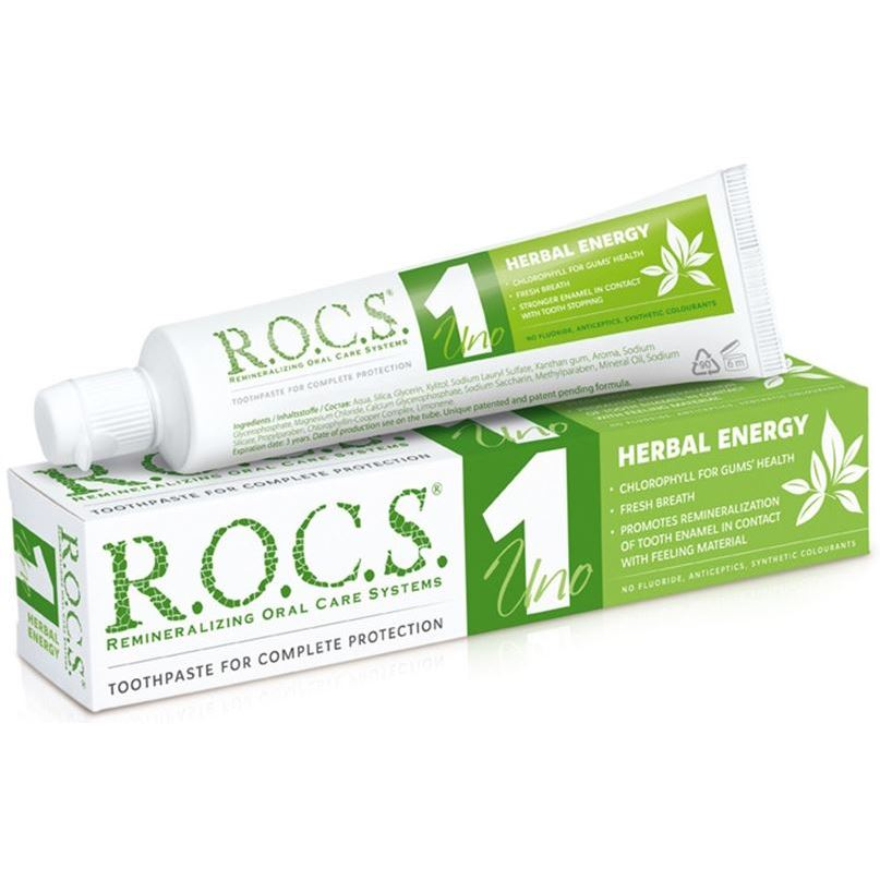 Зубная паста R.O.C.S. Herbal Energy 1 Uno (74 г) herbal muscle