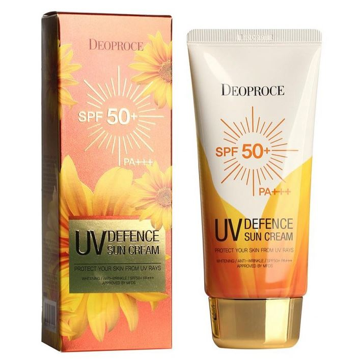 Крем Deoproce UV Defence Sun Protector Cream SPF 50++ PA++ (70 г) крем deoproce daily a mink oil deep nutrition cream 50 г