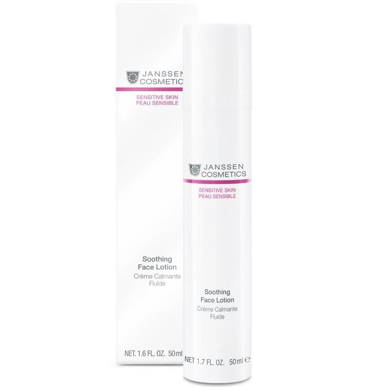 Лосьон Janssen Cosmetics Soothing Face Lotion 50 мл janssen sensitive skin soothing face lotion успокаивающая смягчающая эмульсия 50 мл