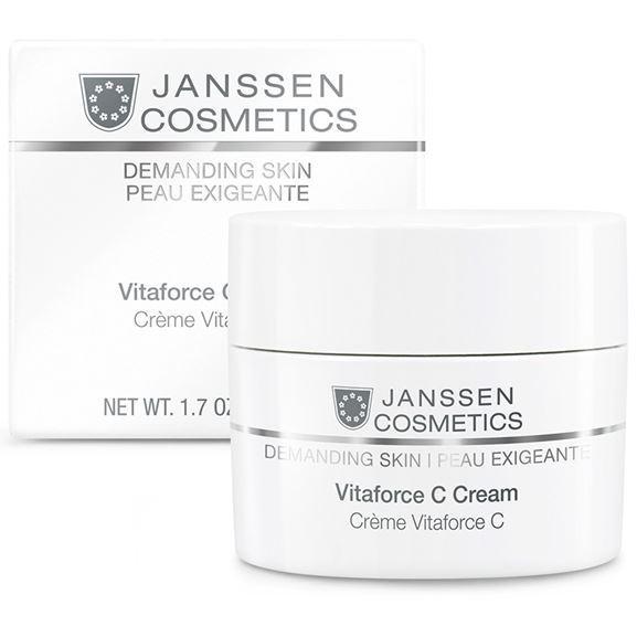 Крем Janssen Cosmetics Vitaforce C Cream 200 мл the yeon canola honey silky hand cream крем для рук с экстрактом меда канола 50 мл