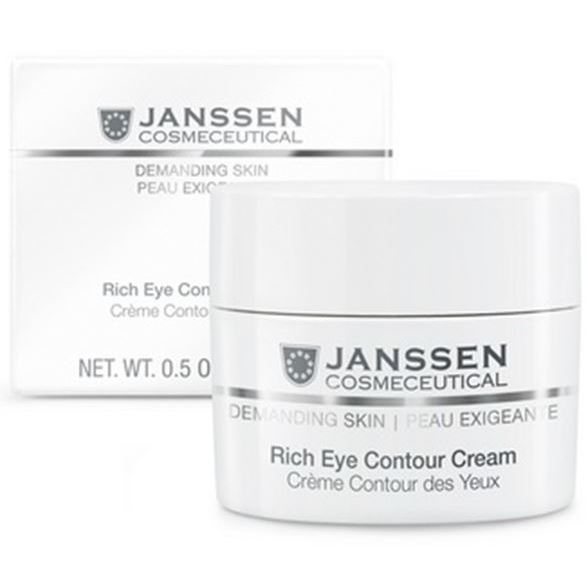 Крем Janssen Cosmetics Rich Eye Contour Cream cosmetics 27 восстанавливающий крем для зоны вокруг глаз eyes 27 15ml