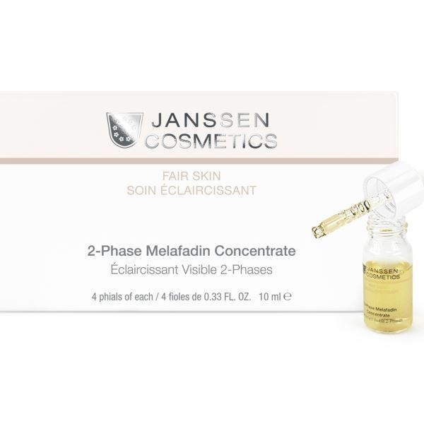 Концентрат Janssen Cosmetics 2-Phase Melafadin Concentrate 7.5 мл periche корректор цвета out colors personal phase 1 phase 2 2 х 150 мл