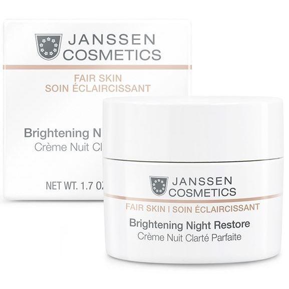 Крем Janssen Cosmetics Brightening Night Restore 50 мл janssen night replenisher питательный ночной регенерирующий крем 50 мл