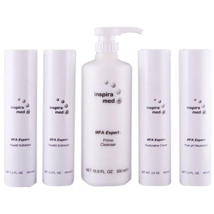 Набор Janssen Cosmetics Inspira Med MFA Expert+ Peel Set (Набор: эмульсия, 250 мл + крем, 50 мл + пилинг 40%, 50 мл + пилинг 60%, 50 мл + нейтрализатор, 50 мл) janssen антикуперозный концентрат 50 мл
