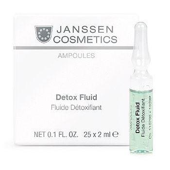 Ампулы Janssen Cosmetics Detox Fluid (3*2 мл) ампулы janssen cosmetics мela fadin effect fluid 3 2 мл