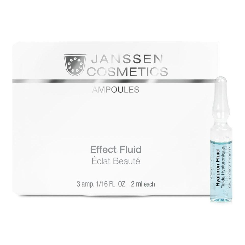 Ампулы Janssen Cosmetics Hyaluron Effect Fluid (Юбилейный набор Ампульный концентрат с гиалуроновой кислотой, 7*2 мл) janssen антикуперозный концентрат 50 мл