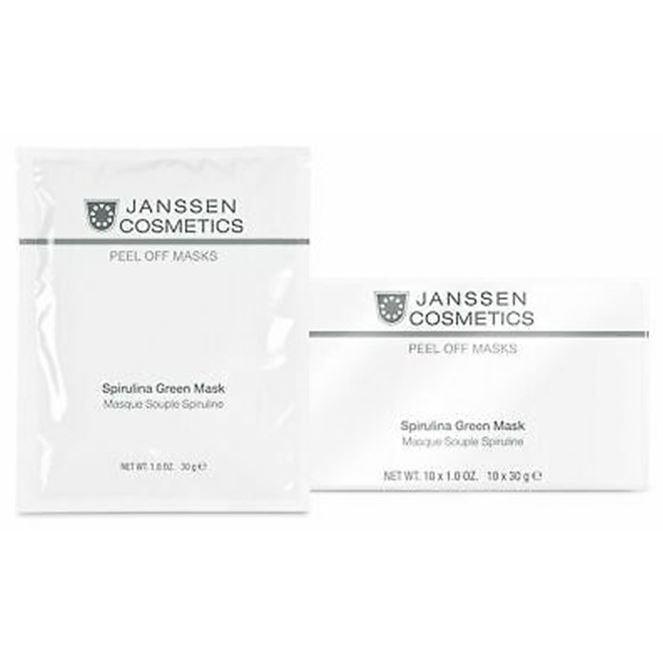 Маска Janssen Cosmetics Spirulina Green Mask (500 г) janssen коллагеновая биоматрица с pcm комплексом janssen dr roland sacher dermafleece collagen fleece mask pcm complex 8104 910 1 лист
