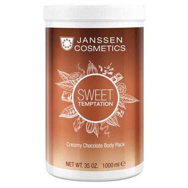 Маска Janssen Cosmetics Sweet Temptation Creamy Chocolate Body Pack 1000 мл janssen кремовое обертывание эйфель мур janssen eifel moor creamy body pack p 8689p 1000 мл