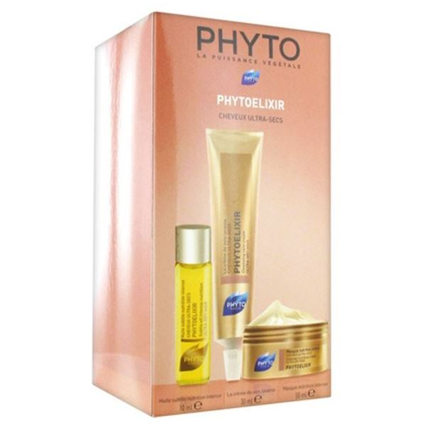 Набор Phyto Phytoelixir (Набор: крем-уход, 30 мл + масло-уход, 10 мл + маска, 50 мл) eveline крем интенсивное питание оливки протеины шёлка 210 мл