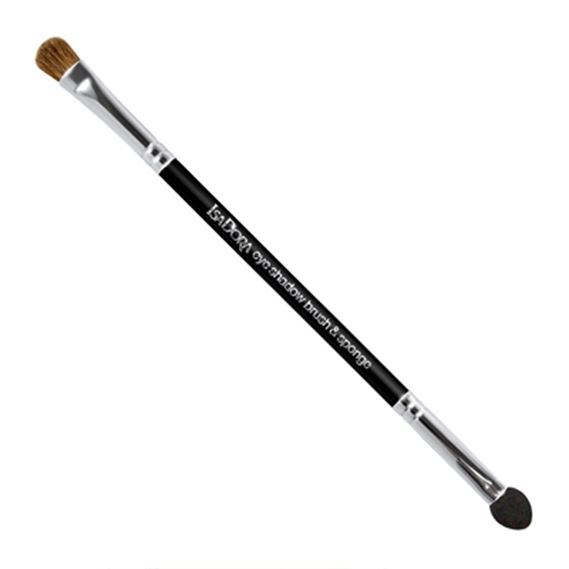 Кисть IsaDora Double Ended Eye Shadow Applicator Brush & Sponge (1 шт) спонж isadora compact foundation sponge refill 1 шт